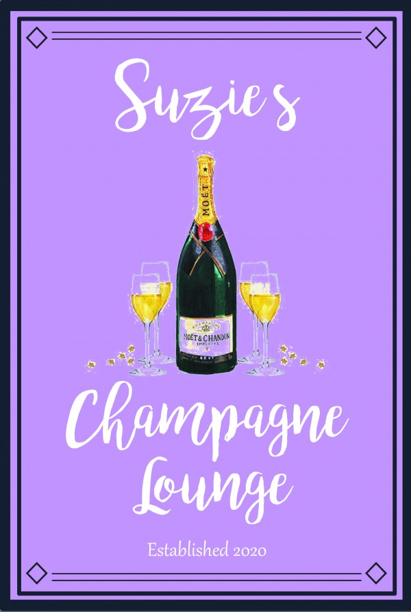 Metal Pub Sign - Champagne lounge