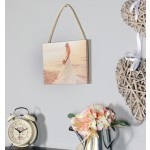 Rustic hanging photo panel