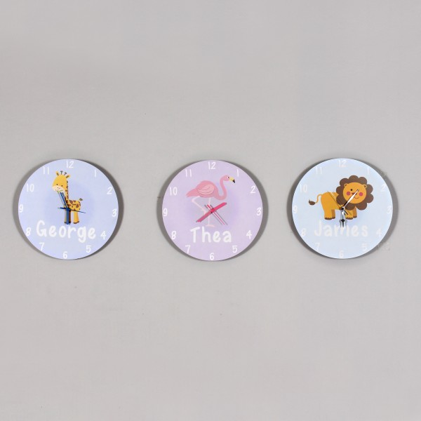 Personalised Animal Clocks