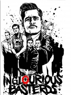 S87-Inglourious-Basterds-Quentin-Tarantino-Pitt-Movie-Wall-Art-Painting-Print-On-Silk-Canvas-Poster-Home